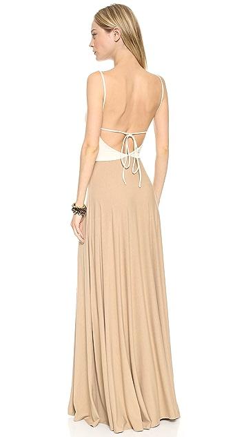 Blue Life Keyhole Ruched Maxi Dress
