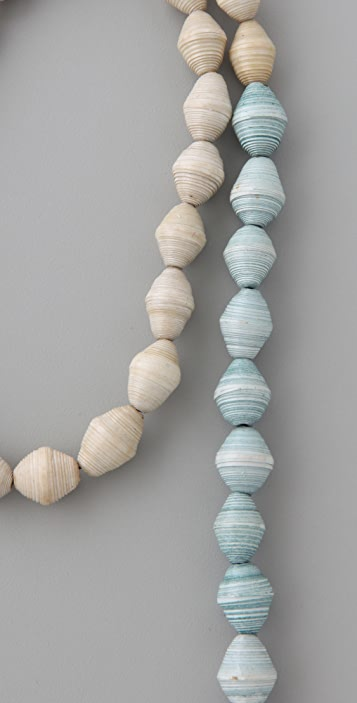 bluma project Paper Bead Necklace