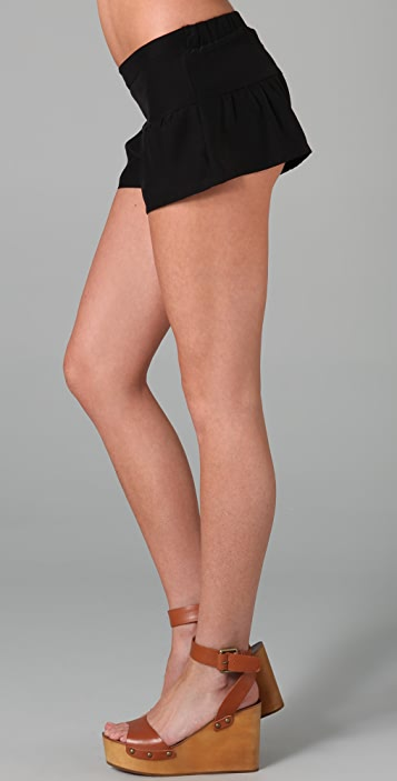 Blu Moon Ruffle Booty Shorts