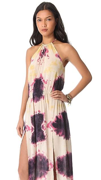 Blu Moon Two Slit Halter Dress