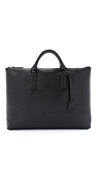 Uri Minkoff Embossed Leather Devin Briefcase