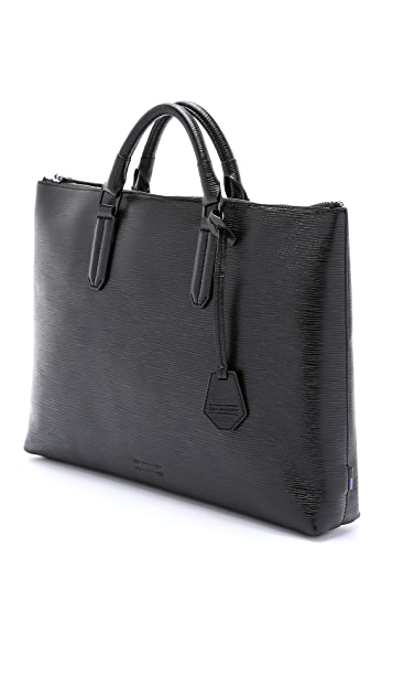 Uri Minkoff Embossed Leather Devin Briefcase