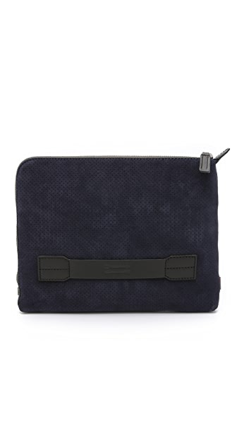 Uri Minkoff Perforated Suede Warren Pouch