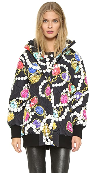 Boutique Moschino Printed Puffer Coat