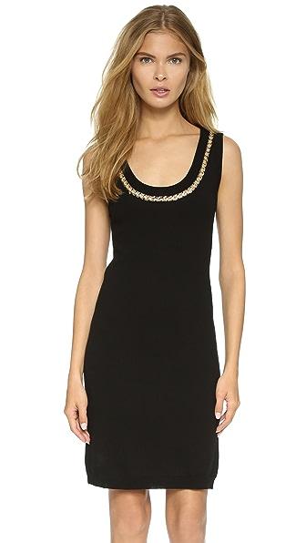Kupi Boutique Moschino online i prodaja Boutique Moschino Chain Trim Tank Dress Black haljinu online
