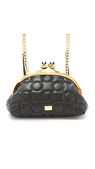 Boutique Moschino Backpack / Purse Bag - Black/Gold