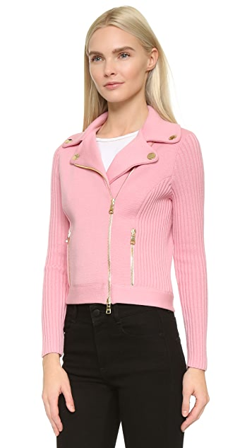 Boutique Moschino Moto Sweater Jacket