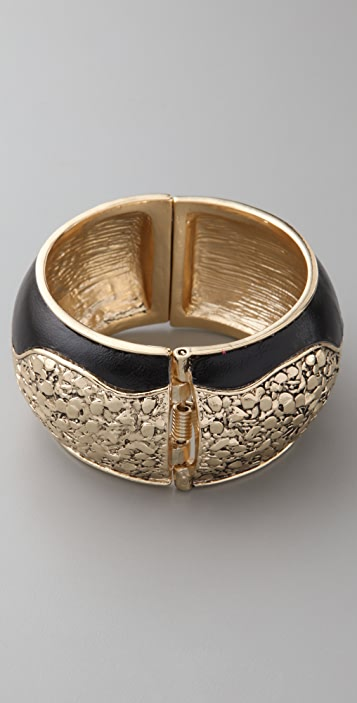 Belle Noel Nugget and Leather Cuff