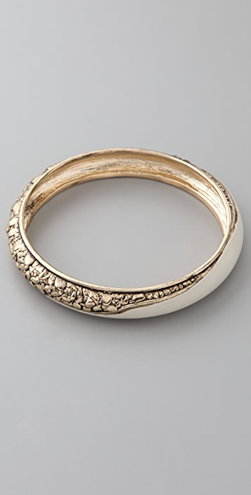 Belle Noel Nugget and Leather Bangle