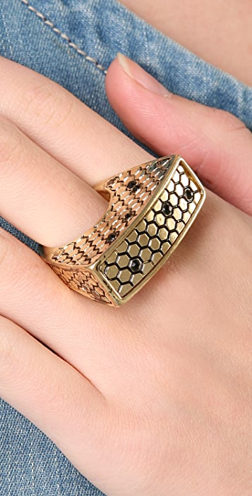 Belle Noel Honey Hexagon Ring