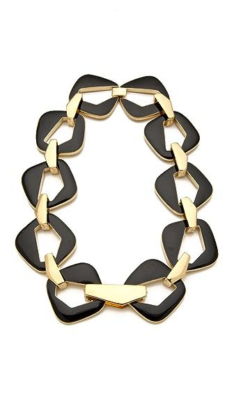 Belle Noel Enameled Modernista Necklace