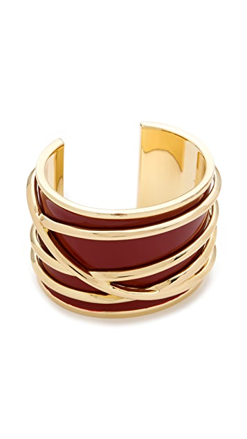 Belle Noel Enameled Thread Cuff
