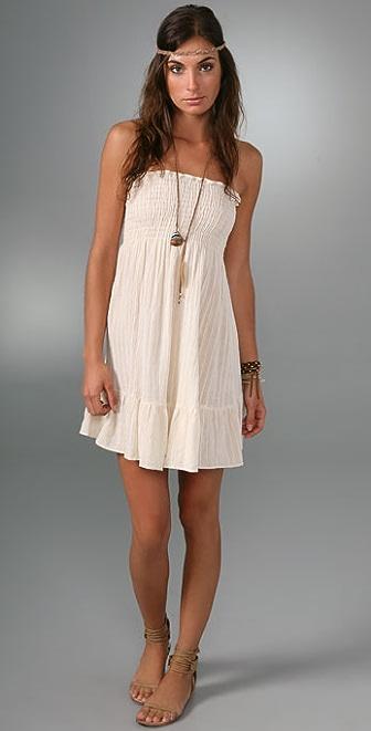 Bop Basics Strapless Smock Mini Dress