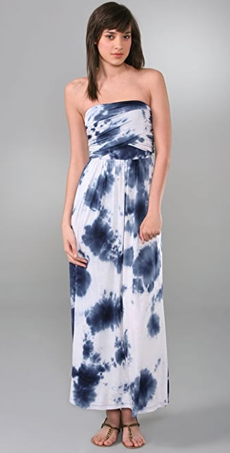 Bop Basics Tie Dye Long Tube Dress