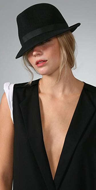 Bop Basics Felt Fedora with Grosgrain Trim