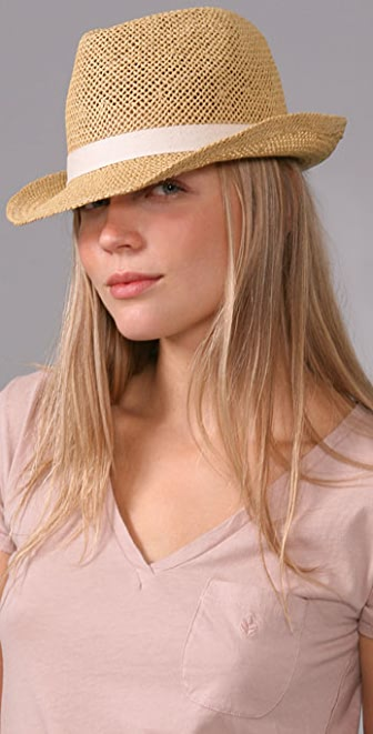 Bop Basics Open Weave Fedora with Ivory Trim