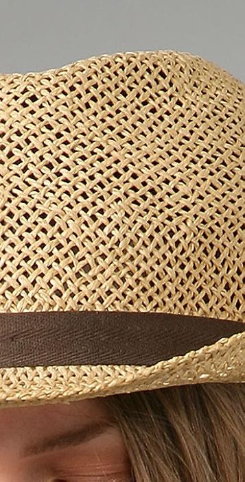 Bop Basics Open Weave Fedora with Canvas Trim