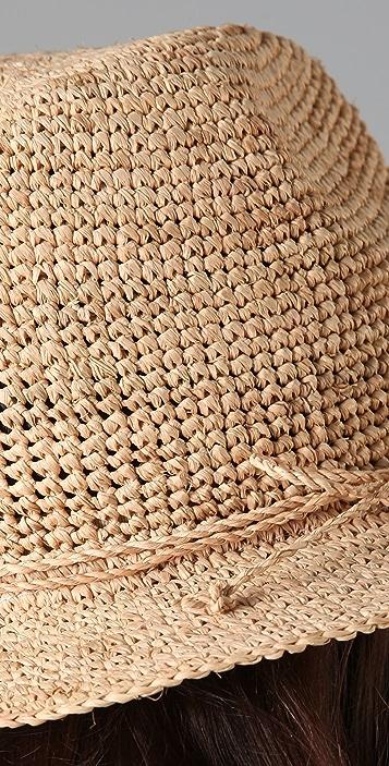 Bop Basics Raffia Crochet Floppy Fedora
