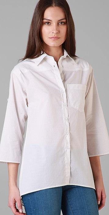 Bop Basics Luxe Stripe Boyfriend Shirt