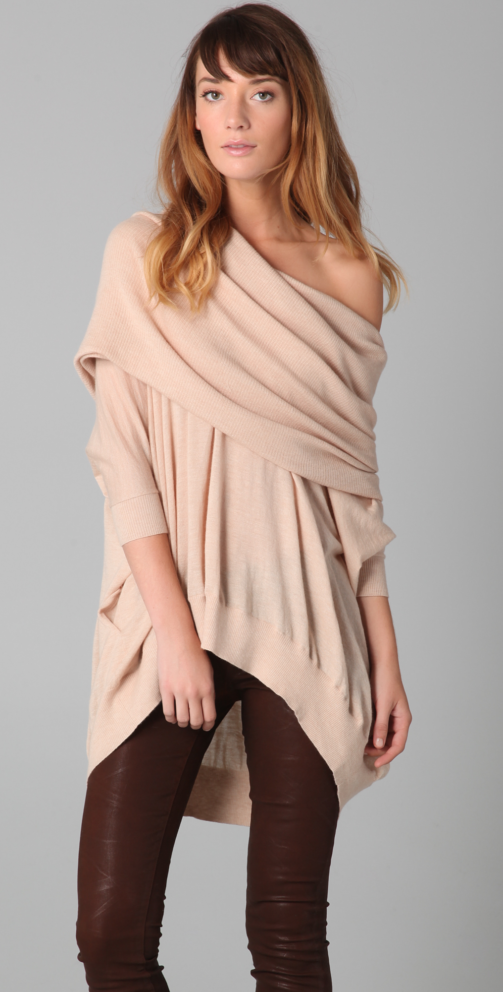 Bop Basics Oversized Cashmere Cowl Neck Sweater | SHOPBOP