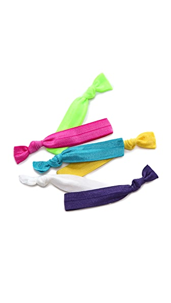 Bop Basics Solid Neon Hair Tie Set