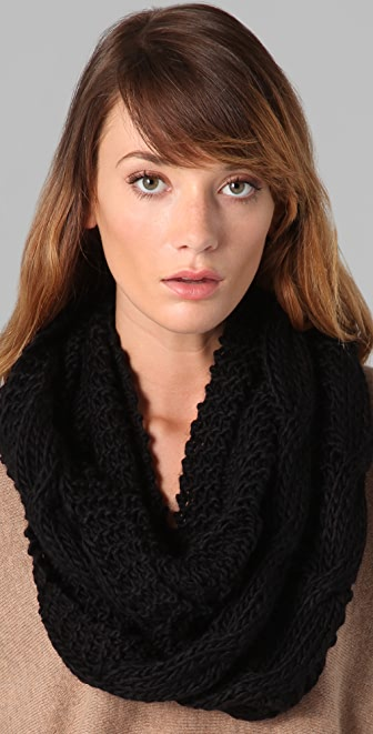 Bop Basics Thick Knit Cable Infinity Scarf