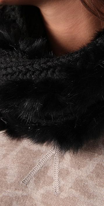 Bop Basics Rabbit Knit Loop Scarf