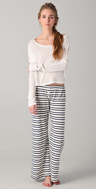 Bop Basics Long Sleeve Crop Top Sleep Set
