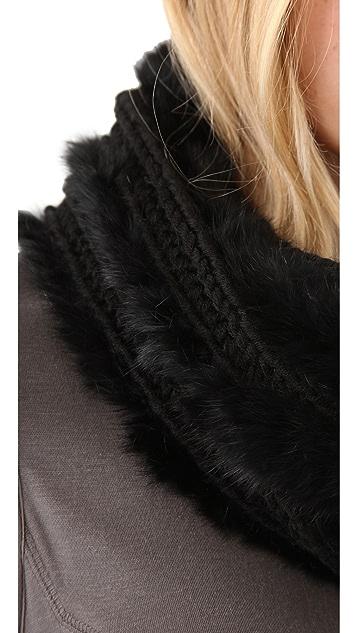 Bop Basics Fur Knit Loop Scarf