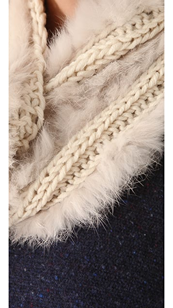 Bop Basics Fur Knit Loop Scarf