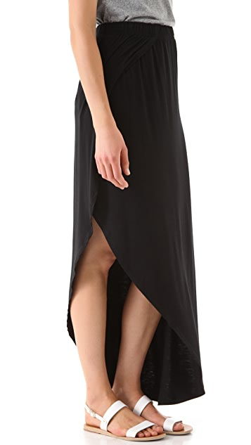 Bop Basics Asymmetrical Maxi Skirt