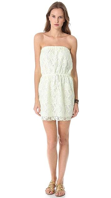 Bop Basics Cassis Mini Cover Up Dress