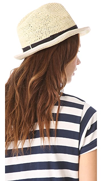 Bop Basics Raffia Fedora with Bound Edge