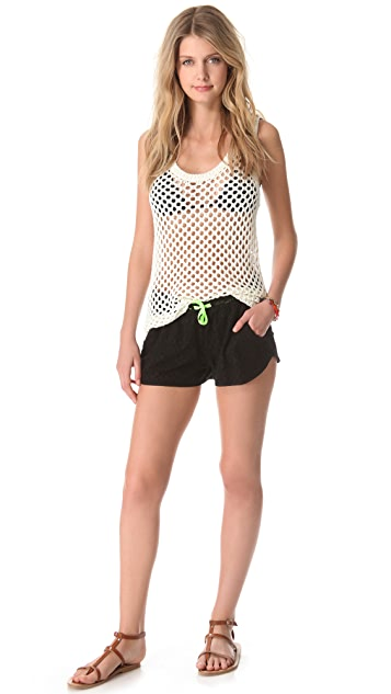 Bop Basics Stephanie Lace Cover Up Shorts