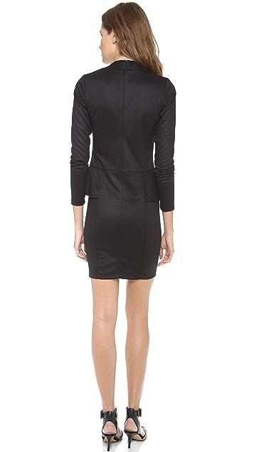 Bop Basics Long Sleeve Peplum Dress