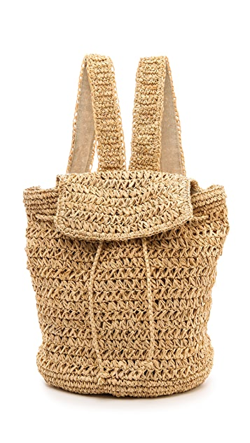 Bop Basics Raffia Backpack