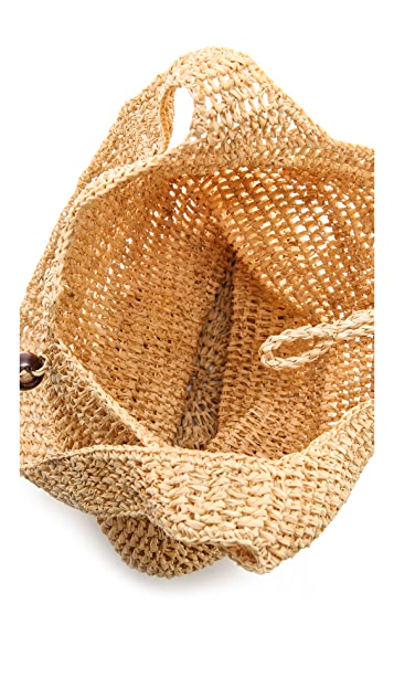 Bop Basics Raffia Sling Bag