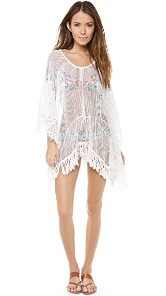 Bop Basics Fringed Lace Cover Up