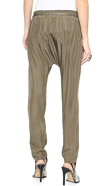 Bop Basics Silk Charmeuse Harem Pants