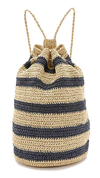 Bop Basics Rafia Striped Sling Backpack