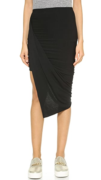 Bop Basics Jersey Draped Skirt
