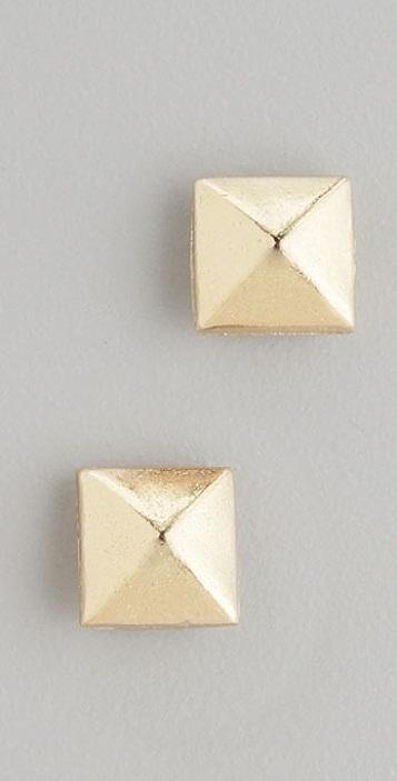 Bop Bijoux Pyramid Stud Earrings
