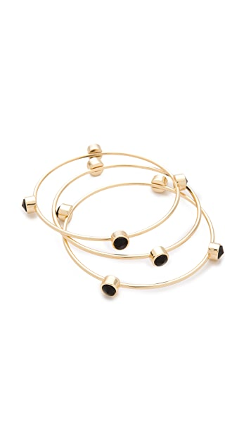 Bop Bijoux Station Bangle Bracelet Set