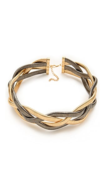 Bop Bijoux Metallic Braid Necklace