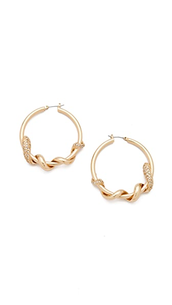 Bop Bijoux Twisted Snake Hoop Earrings