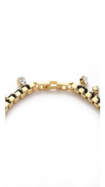 Bop Bijoux Leather Rock Box Chain Necklace