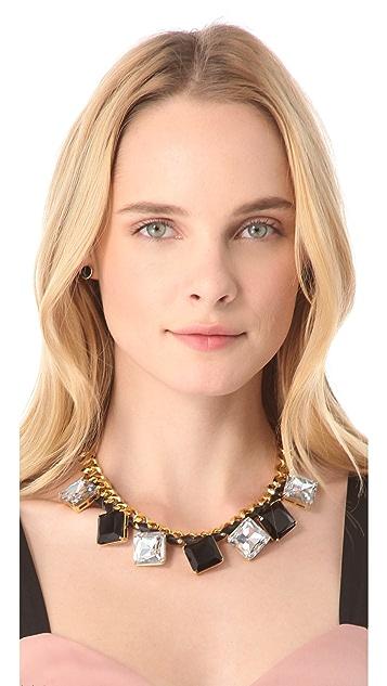 Bop Bijoux Oversized Leather Rock Necklace