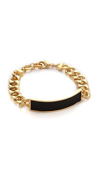 Bop Bijoux Leather ID Bracelet