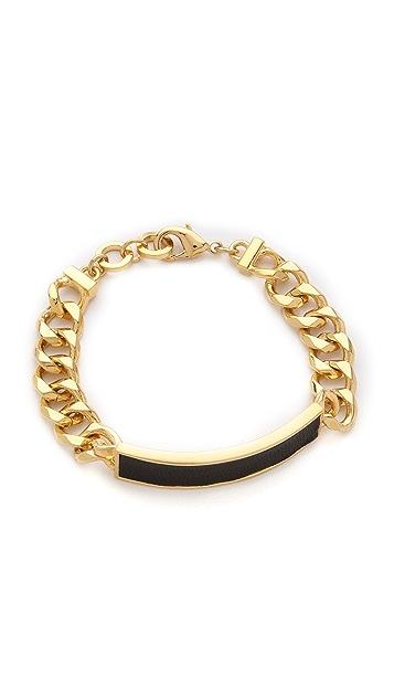 Bop Bijoux Leather ID Bracelet