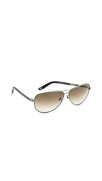 Bottega Veneta Special Fit Aviator Sunglasses